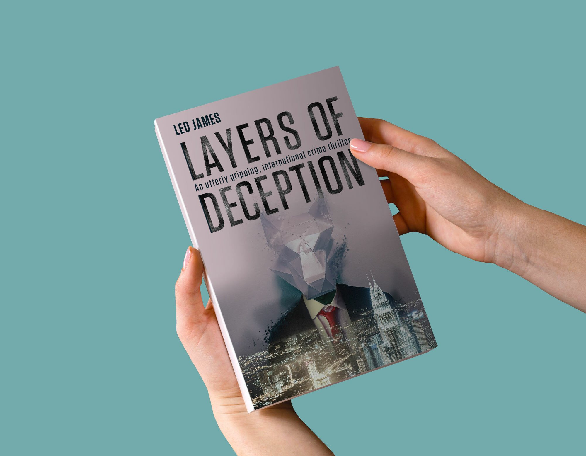 Layers of Deception Book Cover design